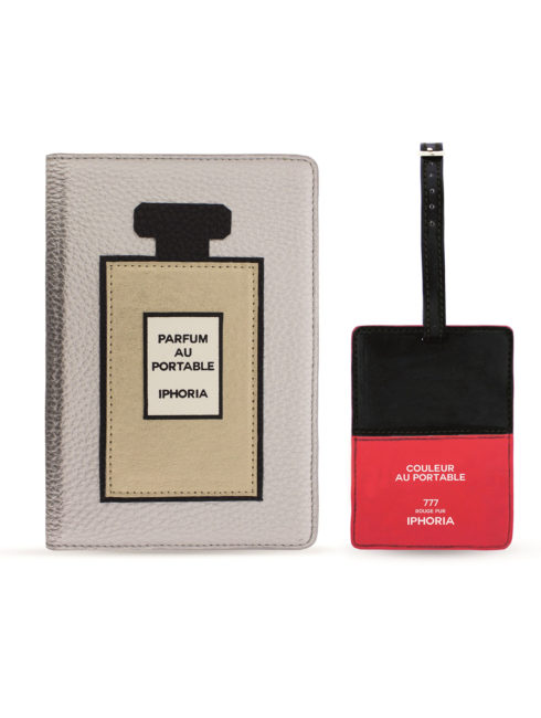 Travel Kit (Passport Holder + Luggage Tag) Beauty Au Portable