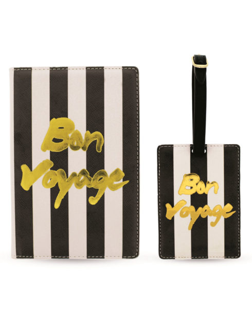 BON VOYAGE PASSPORT HOLDER LUGGAGE TAG