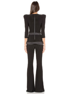 amla Informant Jumpsuit Black Zhivago back