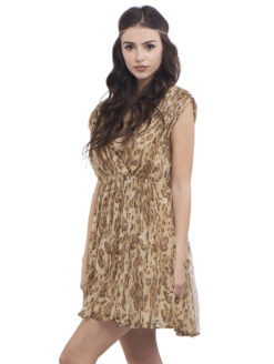 Mes Demoiselles Leopard Print Priscilla Dress