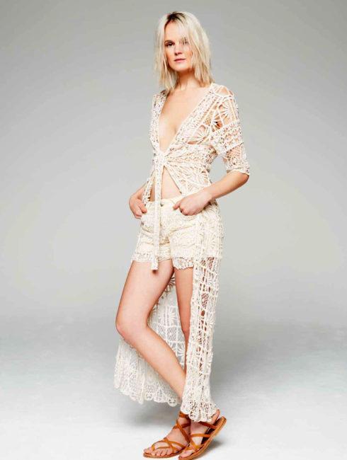 Brigitte Bardot Crochet Beach Cardigan