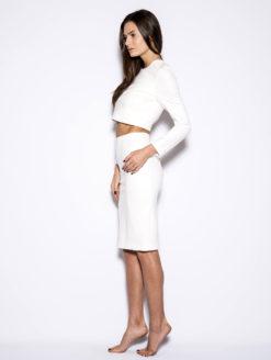 High Waist Long White Ladies Pencil Skirt - shop amla