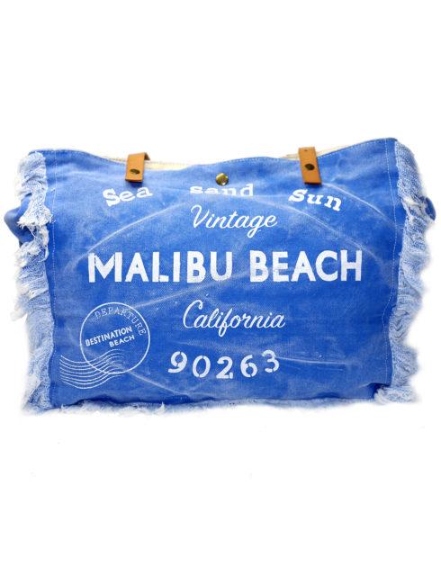 Vintage Havana Blue Malibu Beach Tote-shopamla