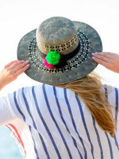 Good Vibes Hat with Pom Pom-JADEtribe