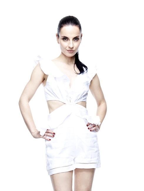 Marigot White Ruffle Linen Romper-Karina Grimaldi