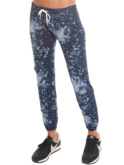 Blue Bleach Out Sweatpant-MONROW at amanda mills la