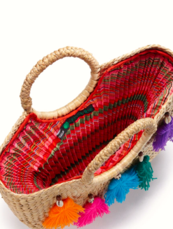 JADEtribe- Mini Tassel Beach Basket -shop amla