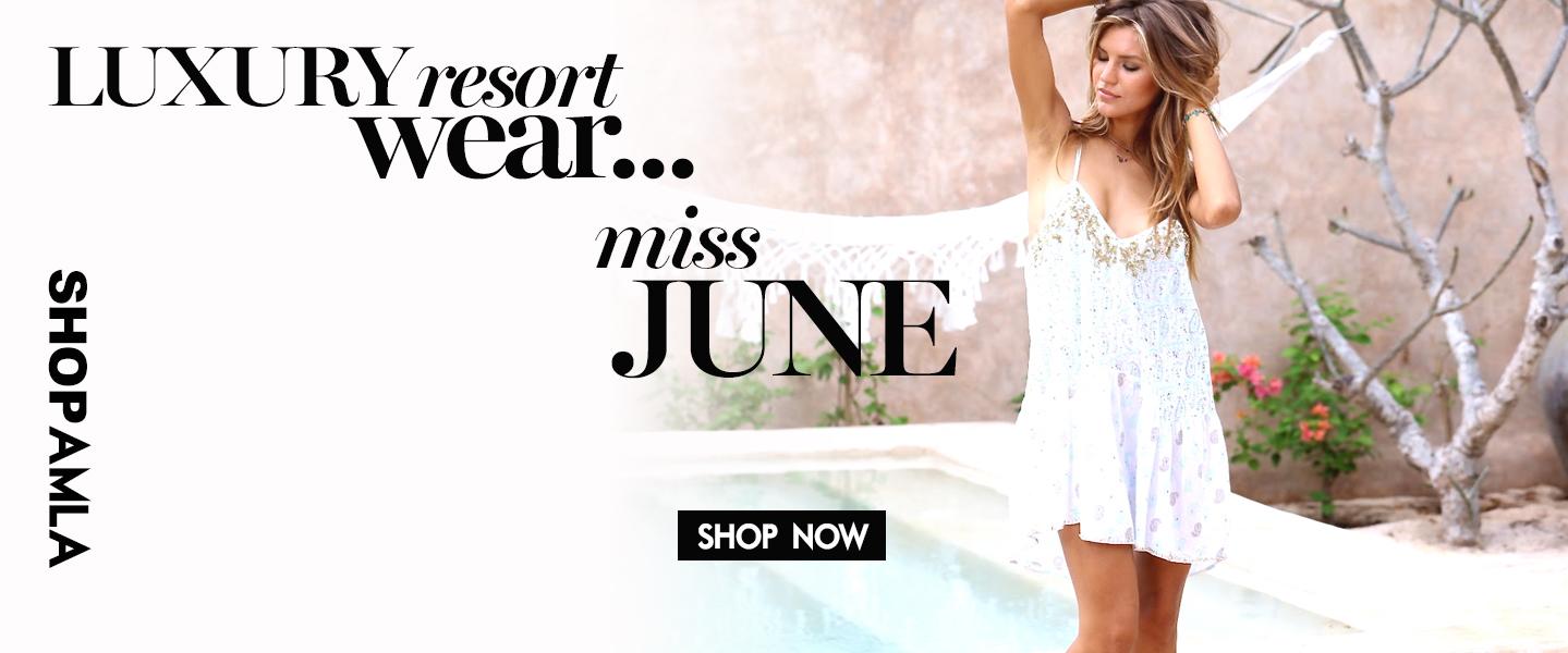 Amanda Mills Los Angeles luxury resort wear miss june clothing