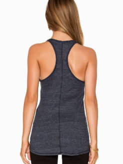 Stateside Fitted Charcoal Racer Tank - amla
