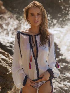 Anna Kosturova - Sailor Nomad Boho Blouse - Amanda Mills LA