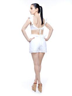 0724ec297e7 Marigot White Ruffle Linen Romper-Karina Grimaldi.
