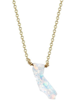 Mana - California Fire Opal Necklace - Snow White - Amanda Mills Los Angeles