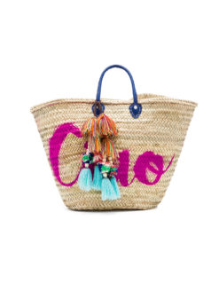 Marrakech CIAO Pom Tassel Beach Bag