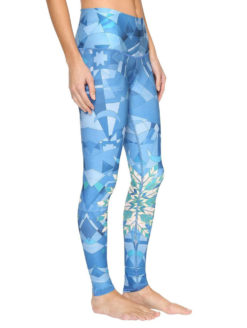 Lightning Bottle Geometric Hot Yoga Pant