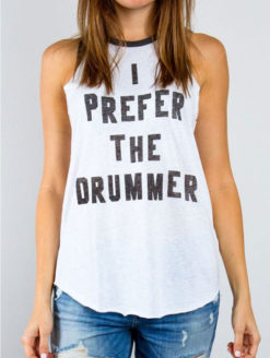 Prefer The Drummer Tank - JUNK FOOD - Amanda Mills Los Angeles