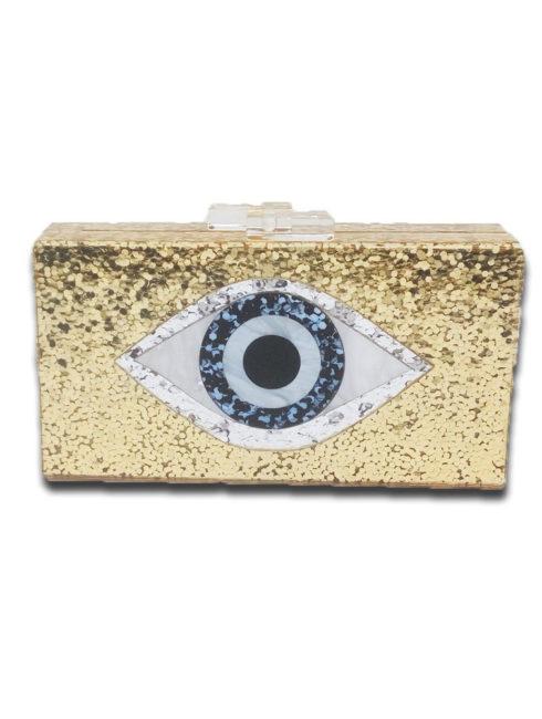 Evil Eye Acrylic Clutch Handbag - AMLA Vibe -Amanda Mills LA