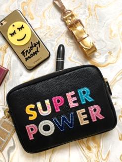 Iphoria Patches Super Power Purse Bold Black