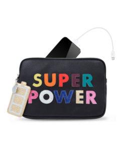 Add to Favorites Iphoria Patches Super Power Purse - Black - amla