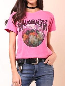 Daydreamer Hendrix Experience Pink Tee-shopamla