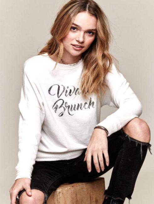Daydreamer Viva La Brunch Sweatshirt - White