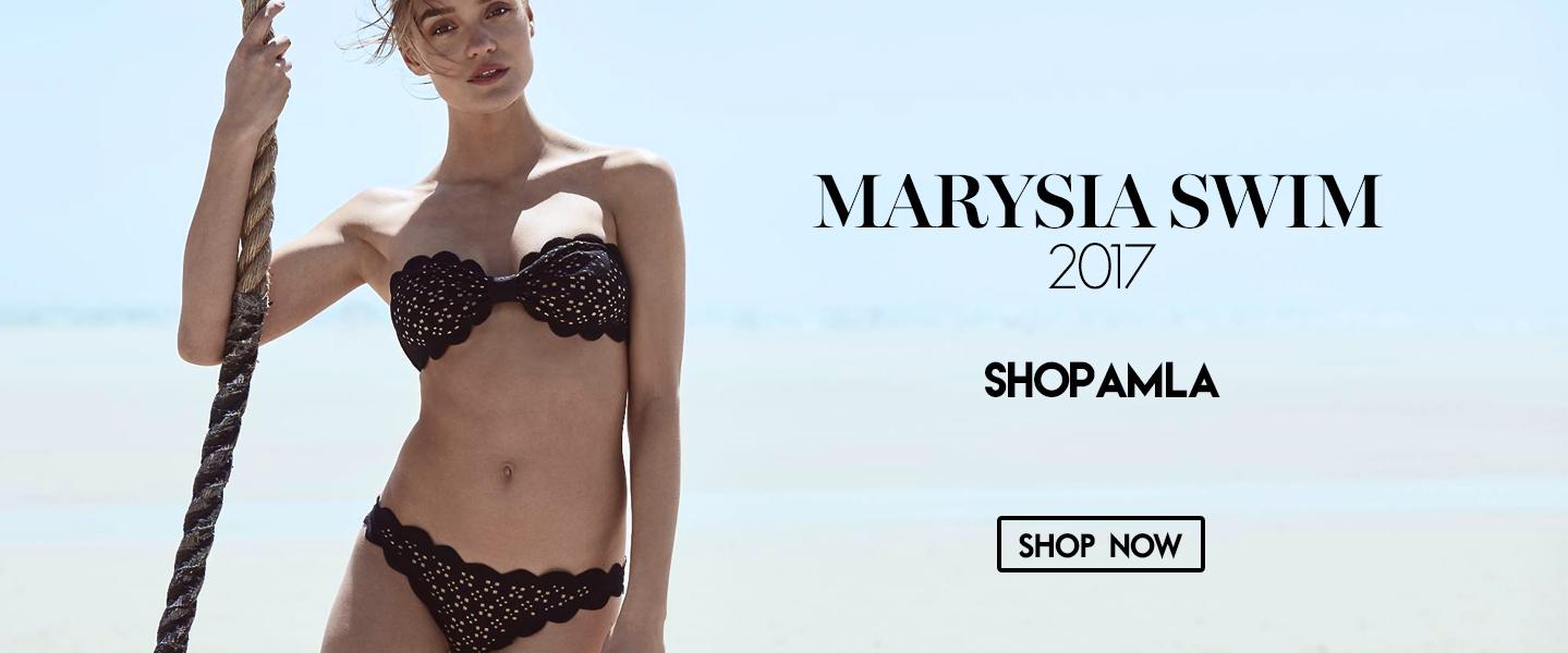 amla marysia black and white polka dot bikini