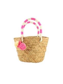 Kayu Mini St. Tropez Pink Pom Pom Tote