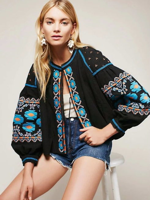 Isabella Boho Chic Embroidered Blouse