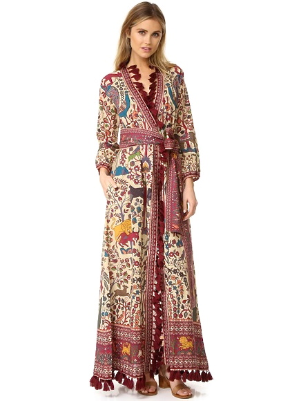 Jagger Jungle Print Wrap Front Maxi Dress