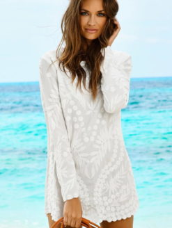 Water Lilly Sheer White Jane Dress