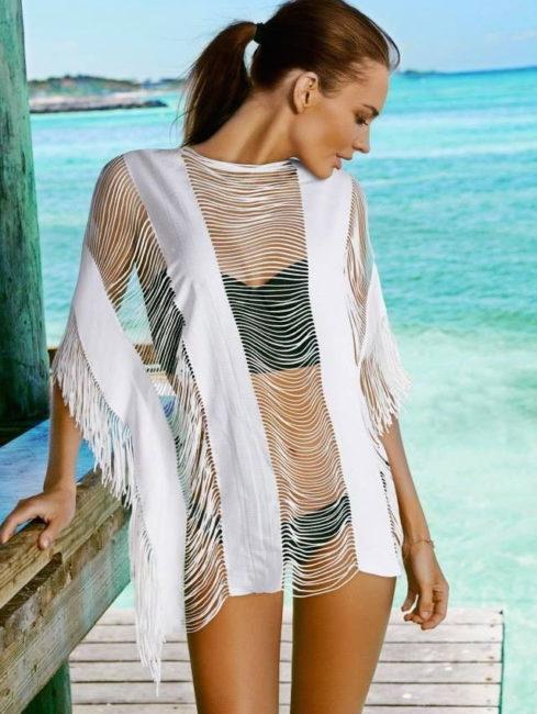 Water Lily Monique Bikini Cover - WHITE