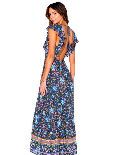 Monterey Festival Floral Fields Maxi Dress-SHOPAMLA