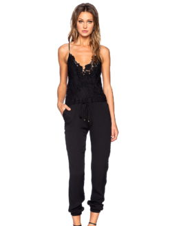 KEAP LACE TRIMMED JUMPSUIT