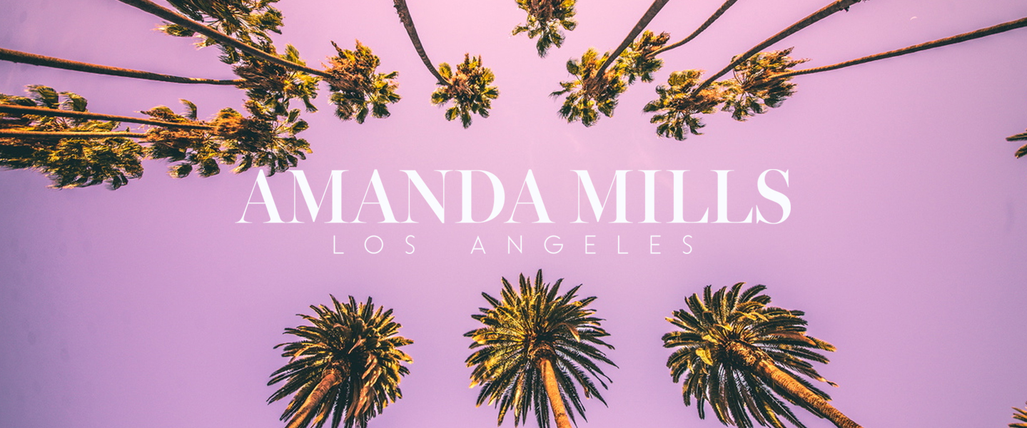 Amanda Mills Los Angeles palm trees