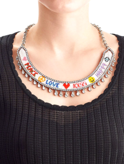 Peace Happy Love Kiss Choker Shourouk