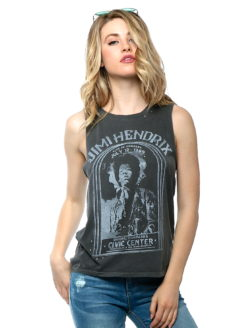 Jimi Hendrix Civic Center Studded Concert Tee