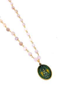 Naga Buddha Moonstone Gem Necklace
