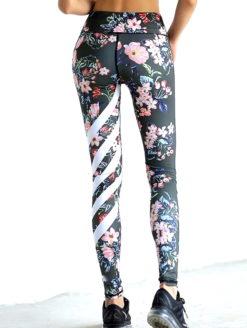 Floral Flash Print MID RISE YOGA PANT