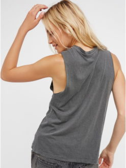 Smiley Face Distressed Grey Graphic Tee