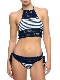 Anna Kosturova Sailor Lace Halter Bikini Set