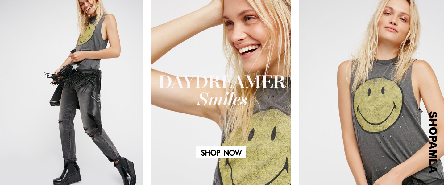 AMLA DAYDREAMER SMILEY TEE