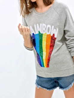 CALIFORNIA RAINBOW SLIM FIT CREW SWEATSHIRT
