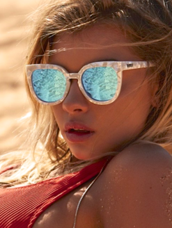 NOOSA PEARL BLUE MIRROR SUNGLASSES