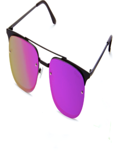 PRIVATE EYES BLACK & PURPLE MIRROR SHADES
