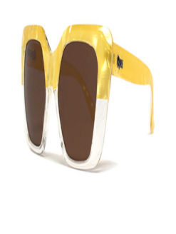 WESTEND GIRL GOLD CRYSTAL WHITE SUNGLASSES