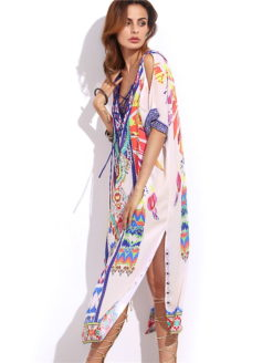 FISHER ISLAND MULTICOLOR LUXURY KAFTAN