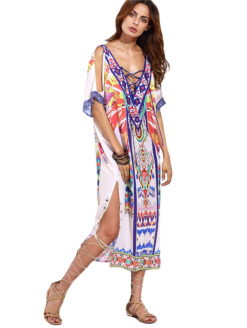 FISHER ISLAND MULTICOLOR LUXURY KAFTAN - amla vibe clothing