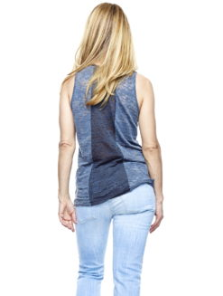 Burnout Pocket Tank Charcoal Gray - v2