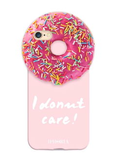 Pink Round Case Donut Care iPhone 7