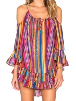 Desert Sun Exposed Shoulder Beach Cover- V!