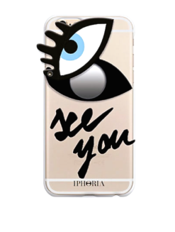 Eye Print Attached Mirror iPhone Case - shop amla